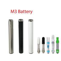 batería vape pluma automática al por mayor-350mAh M3 Batería Ecig Batería Pluma Sin Botón Automático Para TH205 M6T 510 Tanque de Aceite Cartucho Vape Pluma Batería