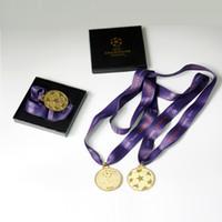 medalhas frete grátis venda por atacado-Frete Grátis 2011 medalha de final da liga da liga do campeão Meiss lembranças fã de futebol Barce Fans coleção de presentes de aniversário