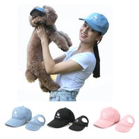 Wholesale cute travel accessories resale online - Pet Dog Hat Cute Head Accessories Pet Lover Hat For Dog Master People Sun Baseball Travel Outdoor Caps Cat NZH07