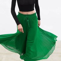 Wholesale women legs lace resale online - Dropshop Summer Fashion Green Lace Women Pleated Tulle Elegant Skirts Knee Length shorts Z05