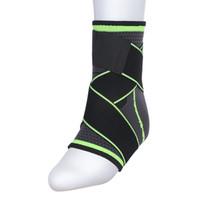 ingrosso attrezzature da badminton-Cinturino in nylon elastico intrecciato 3D supporto brace badminton basket calcio taekwondo fitness protezione del tallone attrezzature da palestra