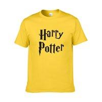 benzersiz kostüm tasarımları toptan satış-Sıcak Satış erkekler t gömlek harry potter hogwarts baskı gömlek benzersiz tasarım harry potter kostüm serin sihirli okul hogwarts t-shirt ZG12