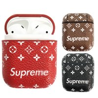Wholesale earphone charger pack retail for sale – best For Airpods Leather Case SUP Brand Soft Ultra Thin Protector Cover With Anti lost Buckle for Air pods Earphones i9s Tws Retail Pack