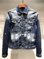 chaqueta vaquera europea al por mayor-Europeo-americana estilo 2020 marca famosa camisa vaquera chaqueta de mezclilla de los hombres de los hombres de la chaqueta de la motocicleta XD29-costura denim directa
