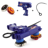 Wholesale beyblade toys for sale resale online - Beyblade Metal Fusion Toys For Sale Beyblades Spinning Tops Toy Set Bey blade Toy with Dual Launchers Hand Spinner Metal Tops CJ191217