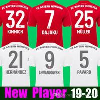 james camisetas de fútbol al por mayor-Top camiseta de fútbol de Tailandia Bayern Munich JAMES RODRIGUEZ 2018 2019 2020 LEWANDOWSKI MULLER KIMMICH camiseta 18 19 20 HUMMELS Camiseta de fútbol
