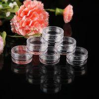 ingrosso monili dell'occhio di plastica-5g (0.17 oz) chiaro vuoto contenitore di plastica vasetti vaso 5 grammi crema cosmetica ombretti unghie polvere gioielli 5000 pz / lotto