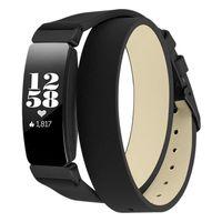 ingrosso orologi da polso in pelle-Vigilanza di cuoio Fasce compatibile per Inspire / Inspire Hr Fitness Tracker dell'involucro del doppio di ricambio Accessori Strap Wristband