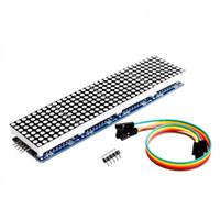 raspberry pi frete grátis venda por atacado-Frete grátis LANDZO MAX7219 Dot Matrix Módulo Para Raspberry Pi 3 Microcontrolador 4 Em 1 Display com Linha 5P