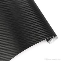 karbon elyaf tabakaları toptan satış-30cmx127cm 3D Karbon Elyaf Vinil Araç Wrap Sac Rulo Film Otoyapıştırmaları ve Çıkartmaları Motosiklet Otomobil Şekillendirici Aksesuarları Otomobiller
