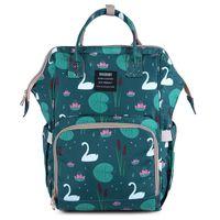 Wholesale bear tote resale online - Multi function Mummy Backpacks Design Pineapple Swan Floral Sheep Flamingo Unicorn Fox Panda Bear Key Waterproof Nappy Maternity Tote Bag