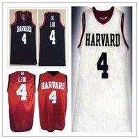 frauen basketball jerseys großhandel-# 4 JEREMY LIN Harvard University College Mann Frauen Jugend Basketball Trikots Größe S-5XL jeder Name Nummer Sport Trikot