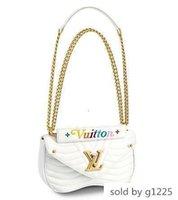 Wholesale hobo cross shoulder bag for sale - Group buy 2019 M51945 NEW WAVE BAG MM HOT WHITE Embroidered CHAIN Bags Hobo HANDBAGS TOP HANDLES BOSTON CROSS BODY MESSENGER Shoulder