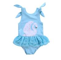 mode badeanzüge großhandel-Baby-Badebekleidungs-Schwan-neugeborener Badeanzug-einteiliger Hosenträger scherzt Kleidung-Bikini-Sommer-Art- und Weiseschwimmen-Kostüme freies Verschiffen