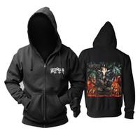 виды снарядов оптовых-14 kinds Demon Zipper Sweatshirt belphegor Rock hoodies shell jacket rocker  punk heavy metal sudadera Outerwear fleece