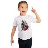 pamuk süper kahraman tişörtler toptan satış-2019 son superhero marvel comics film karakter beyaz kısa kollu pamuklu Tişört yaz çocuklar için yumuşak kumaş giymek
