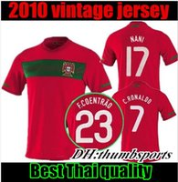 jerseys portugal al por mayor-2019 camisetas de fútbol portugales RONALDO 2010 QUARESMA J.MOUTINHO BERNARDO ANDRE SILVA Copa mundial de nani 2010 camisetas de fútbol retro 2010 de primera calidad