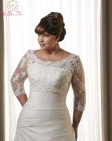 boleros parti elbiseleri toptan satış-Beyaz Yumuşak Dantel Kadınlar Bolero Zarif Şeffaf Yaz Aplike Boncuklu Scoop Boyun Akşam Parti Elbiseler Düğün Şal Artı Boyutu 2019