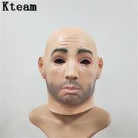 красивые маски оптовых-Мужская маска для лица из латекса силиконовая Machina реалистичные человеческие маски для кожи Хэллоуин танцевальный маскарад Красивая маска Crossdress раскрыть женщина девушка