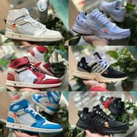 low priced 29878 b2dfa 2019 Nike Air Jordan 1 white Shoes Hohe OG Basketballschuhe Günstige off  Royal Banned Bred Schwarz Weiß Retro Toe Männer Frauen Trainer 1s Nicht Für  Den ...
