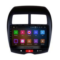 mitsubishi radio bluetooth toptan satış-10.1 Inç Android 9.0 Dokunmatik Araba Radyo 2010-2015 Mitsubishi ASX Peugeot 4008 ile Bluetooth WIFI Desteği DVR Araba dvd Arka kamera