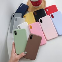 Wholesale iphone cases gel silicon for sale – best TPU Gel Soft Back Cover Candy Color Silicon Mobile Skins Mate Case for iPhone xs max xr Plus plus splus