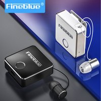 Wholesale bluetooth headset earphone clips resale online - FineBlue F1 Wireless Bluetooth V5 handsfree earphone Music Headset Vibrating Alert Wear Clip Earphone for Smartphone for phone