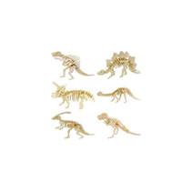 fazer brinquedos educativos venda por atacado-Enigmas 3D puzzle tridimensional brinquedos educativos para crianças artesanais diy modelo de aniversário de dinossauro fazendo criativo brinquedos baratos presentes