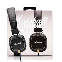 qualidade profissional dos auscultadores venda por atacado-2017 Marshall Major II 2 ª Geração fones de ouvido Com Cancelamento de Ruído Microfone Profundo Baixo Hi-Fi HiFi Headset Profissional DJ Top Quality