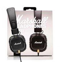 calidad profesional de auriculares al por mayor-2017 Marshall Major II 2da generación de auriculares con micrófono Cancelación de ruido Deep-Hi Hi-Fi Headset DJ profesional de alta calidad