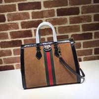 Wholesale deerskin leather bags for sale - Group buy 2019 Top Quality Brand design Letter Ribbon Metal Buckle Shoulder Bag Deerskin whide Leather Woman Large Tote Handbag