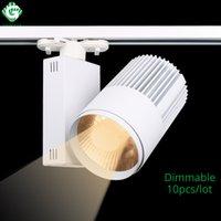 loja moderna acessórios venda por atacado-LED Track Light COB 40 W Regulável Modern Rail Spot Lights Iluminação Clothing Store Store Windows Spotlight Lamps Fixtures