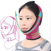 Wholesale massage bandage for sale - Group buy High Quality Red Face Mask Brace Shape Cheek Uplift Slim Chin Face Belt Bandage Health Care Weight Loss Product Face Massage C18112601