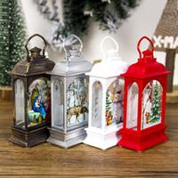 acessórios luzes de natal venda por atacado-Decorações de natal Enfeites de luz Artesanato Decoração da casa Pendurado Pingente Festa Melhoria Home Acessórios de Natal 4 cores