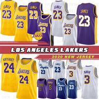 camisolas do ingram de brandon venda por atacado-LeBron James 23 Anthony 3 Davis jerseys 32 Johnson Kobe 8 24 Bryant Kyle 0 Kuzma Lonzo 2 Ball Brandon 14 Ingram Kid Basketball Hot Jerseys