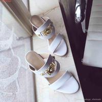 boncuk tırnak modası toptan satış-Yeni moda yüksek topuklu sandalet ayakkabı Yüksek kalite lady kırmızı terlik Toz Torbası Ile kırmızı ve siyah ve beyaz tırnak boncuk