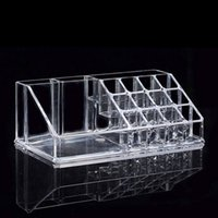 Wholesale acrylic make up storage resale online - Clear Acrylic Showing Shelf Holder Display Storage Box Nail Polish Lipstick Make Up Nail Art Container