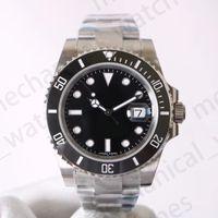 v8 negro al por mayor-Relojes de lujo para hombre V8 904L 116610LN ETA 3135 Relojes mecánicos automáticos Marco de cerámica verde negro Reloj de buceo luminoso Envío de DHL