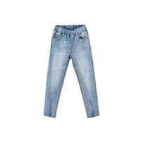 hohe mode kinder jeans großhandel-Frühlings-New Kids'Clothes 2019 4-15 Jahre Big Girl Fashion Jeans Bleistift-Hosen Hohe Frühlingsunterhose Mädchen Eltern Jeans