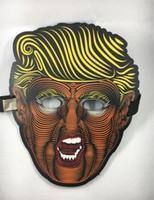 ingrosso la farfalla si illumina-USA Donald Trump 2020 Maschere piene a forma di farfalla Glowing Party Half Mask Fit Halloween Forniture vendita calda 33qy E1