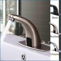 Wholesale touch water faucets for sale - Faucet Sensor Bathroom Automatic Hands Touch Free Water Saving Inductive Electric Water Tap Battery Power Basin Faucets