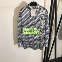 bluz uzun kollu satışı toptan satış-Sıcak Satış Kadınlar Polyester Gömlek High-End Özel Uzun Kollu Gömlek Paris Moda Haftası Mektup Bluz djkl