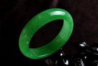 jade pulseira chinês venda por atacado-Koraba Belas Jóias Chinês Natural Bonito Verde Esmeralda Nephrite Jade Bangle Bracelet Frete Grátis