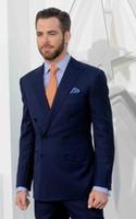 Wholesale royal blue mens ties for sale - Group buy Handsome Groomsmen Peak Lapel Groom Tuxedos Mens Wedding Dress Man Jacket Blazer Prom Dinner Piece Suit Jacket Pants Tie