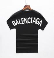 nueva camiseta de los hombres al por mayor-2019 nuevo estilo puro de algodón puro O cuello de manga corta letra de estilo impresa camiseta de los hombres nivel internacional estilo popular estilo casual