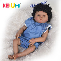 Wholesale realistic toy skin for sale - Group buy New Arrival Inch s cm Silicone Full Body Realistic Newborn Girl Baby Doll Toy For Kid Christmas Gift Black Skin