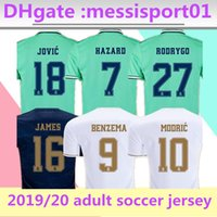 Wholesale real madrid new soccer jersey for sale - Group buy 2019 Real Madrid Soccer Jersey home away NEW HAZARD soccer shirt ASENSIO ISCO MARCELO madrid Football uniforms size S XL