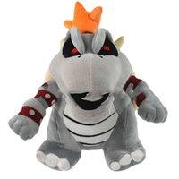 drachen zeug spielzeug groihandel-Super Mario Figur Plüschtiere Knochenfeuerdrachen grau Bowser Koopa Kuscheltiere Kuscheltier Geschenk der Kinder Spielzeug EMS-freies Verschiffen M006