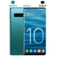 gsm teléfonos celulares dual core al por mayor-Goophone S10 S10 + 6.3 pulgadas MTK6580 desbloqueado teléfono celular Quad Core Android 7.0 1G Ram 8G Rom teléfono inteligente WCDMA 3G