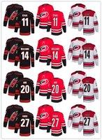 nhl trikots versand großhandel-Günstige Männer Frauen Jugend genähtes NHL Jersey Carolina Hurricanes Schwarz Alternate Red Startseite White Road-freies Verschiffen-Hockey Jersey